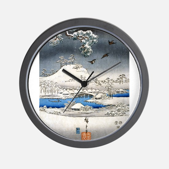 Viewing the Snow (center) Wall Clock