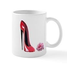 Red Stiletto Shoe and Rose Ar Mug