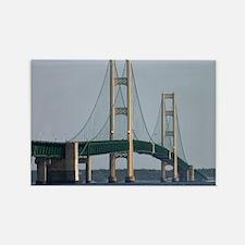mackinaw bridge Rectangle Magnet