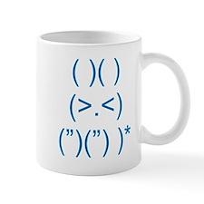 Angry Bunny Blue Mug