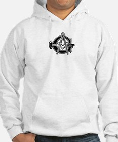 Hammer with Square and Compas Hoodie