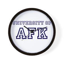University of AFK Wall Clock