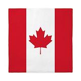 Canada maple leaf flag Duvet Covers