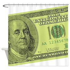 Funny Hundred dollar bill Shower Curtain