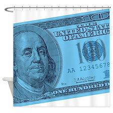 Unique Hundred dollar bill Shower Curtain