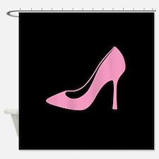 Funny High heel shoe Shower Curtain