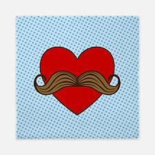 Cool Moustache valentines Queen Duvet