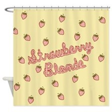 Cute Strawberry blonde Shower Curtain
