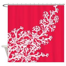 Cute Coral Shower Curtain