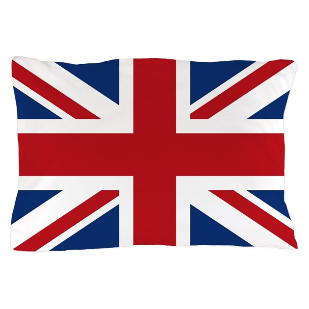 United Kingdom Union Jack Flag Pillow Case By Trendyteeshirts