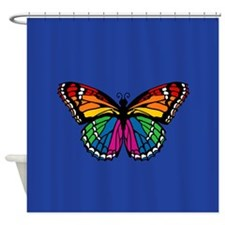 Unique Rainbow butterfly gay pride butterflies Shower Curtain