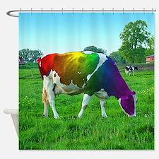Gay pride rainbows Shower Curtain