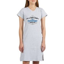 US Navy Newport Base Women's Nightshirt