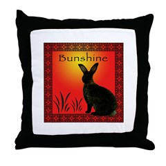 """Bunshine"" Products Throw Pillow"