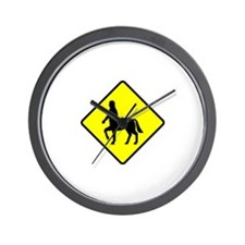 Caution: Centaurs Wall Clock