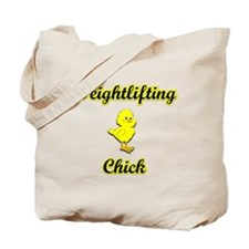 Weightlifting Chick Tote Bag