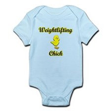 Weightlifting Chick Infant Bodysuit