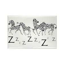 Zebra Z's Rectangle Magnet