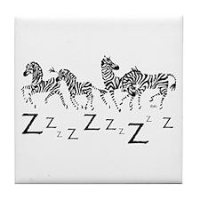 Zebra Z's Tile Coaster