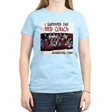 Red Couch Women's Pink T-Shirt