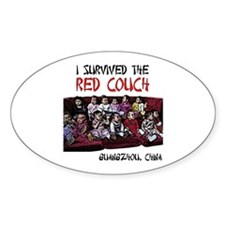 Red Couch Oval Decal