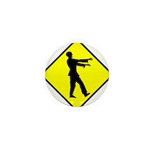 Caution: Zombies Mini Button