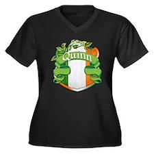 Quinn Shield Women's Plus Size V-Neck Dark T-Shirt