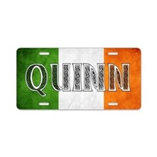 Quinn Shield Aluminum License Plate