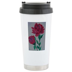 Two Roses Stainless Steel Travel Mug