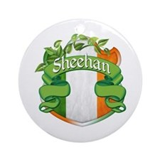 Sheehan Shield Ornament (Round)