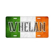 Whelan Shield Aluminum License Plate