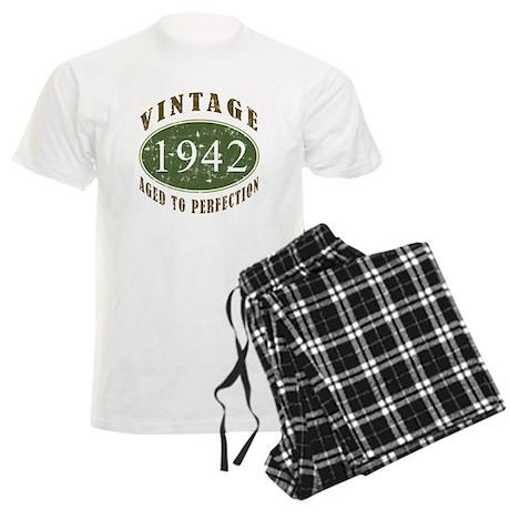 Vintage 1942 Retro Men's Light Pajamas