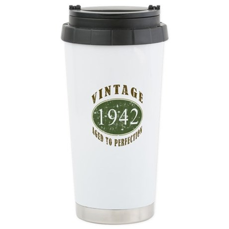Vintage 1942 Retro Stainless Steel Travel Mug