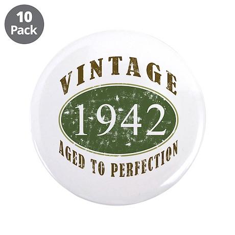 """Vintage 1942 Retro 3.5"""" Button (10 pack)"""