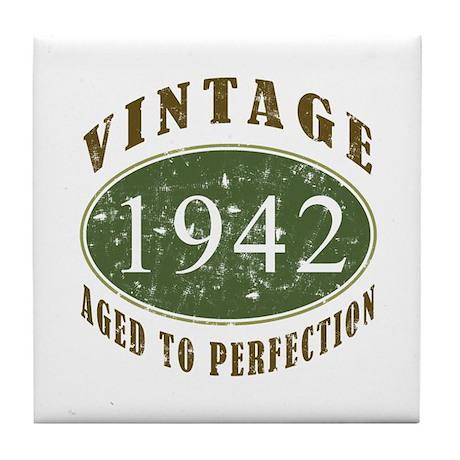 Vintage 1942 Retro Tile Coaster