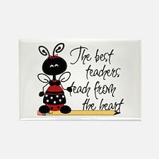 Ladybug Teacher Rectangle Magnet (10 pack)