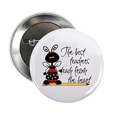 "Ladybug Teacher 2.25"" Button"