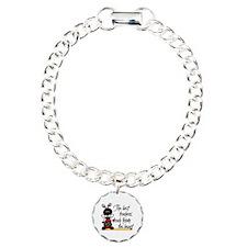 Ladybug Teacher Charm Bracelet, One Charm