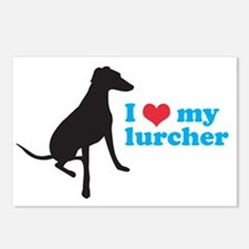 I Love My Lurcher Postcards (Package of 8)