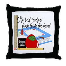 Teach From Heart Throw Pillow