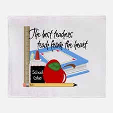 Teach From Heart Throw Blanket