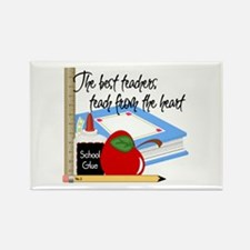 Teach From Heart Rectangle Magnet (10 pack)