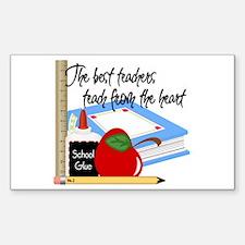 Teach From Heart Decal