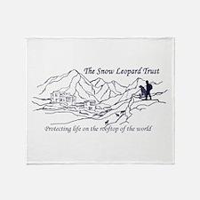 Unique Snow leopard Throw Blanket