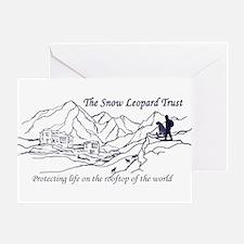Unique Snow leopard Greeting Card