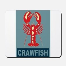 Crawfish In Red and Blue Mousepad