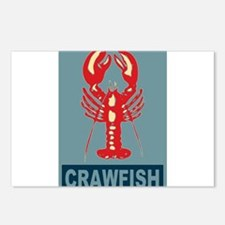 Crawfish In Red and Blue Postcards (Package of 8)
