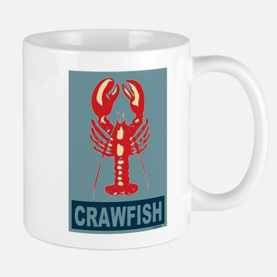 Crawfish In Red and Blue Mug
