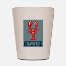Crawfish In Red and Blue Shot Glass