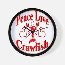 Peace Love Crawfish Wall Clock